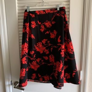 Black and Red A Line Skirt